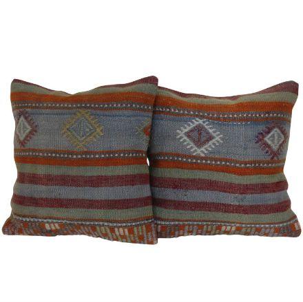 Antique-Kilim-Rug-Pillows - A Pair 1