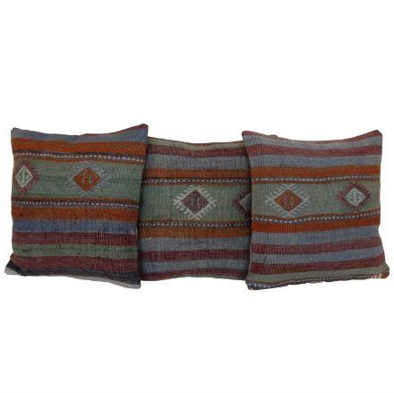 Antique-Kilim-Rug-Pillows-Set of 3 1