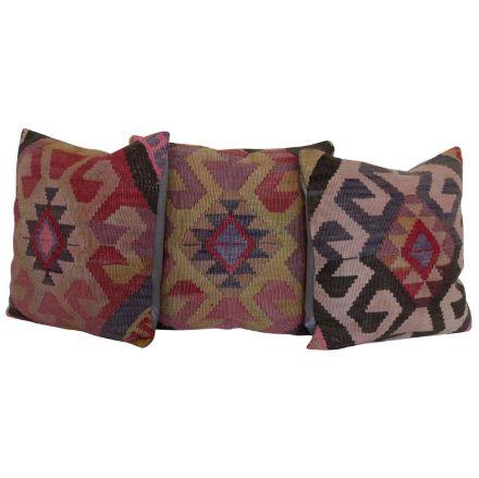 Bohemian-Kilim-Rug-Pillows-Set-of-3 1