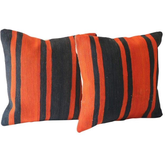 Bold-Pillows-with-Stripes - A Pair 1