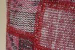 Handmade-Patchwork-Pink-Rug-Pillow 3