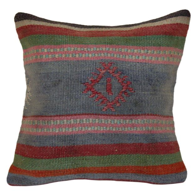 Handwoven-faded-color-Kilim-Pillow 1
