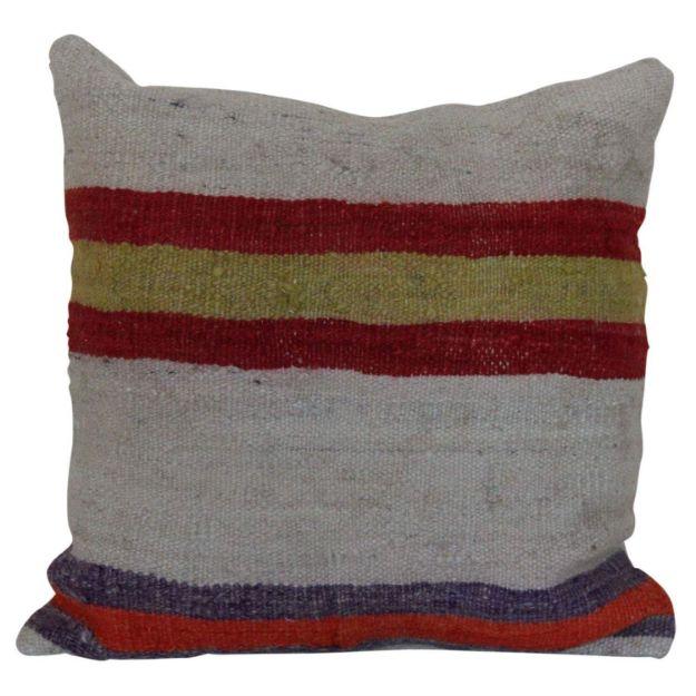 Multi-Colored-Striped-Kilim-Pillow 1