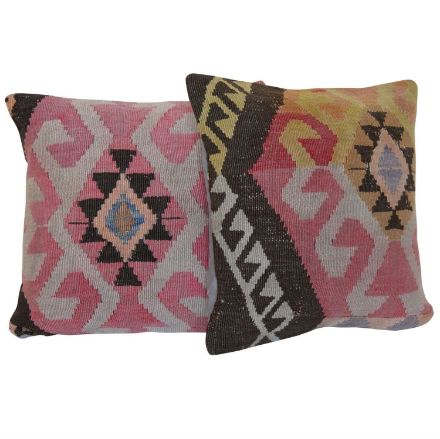 Pastel-Pink-Kilim-Pillows - A Pair