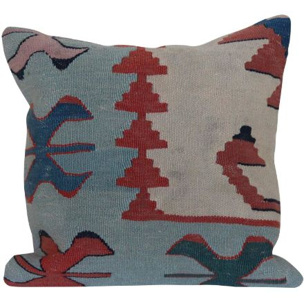 Vintage-Blue-Kilim-Rug-Pillow 1