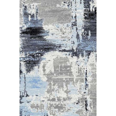 Picture of Abstract Rug in Blue and Gray