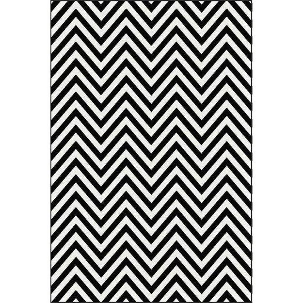 Picture of Chevron Black & White Rug