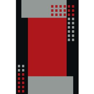 Red-Rug-with-Geometric-Pattern