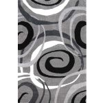 Picture of Gray Rug with Circles