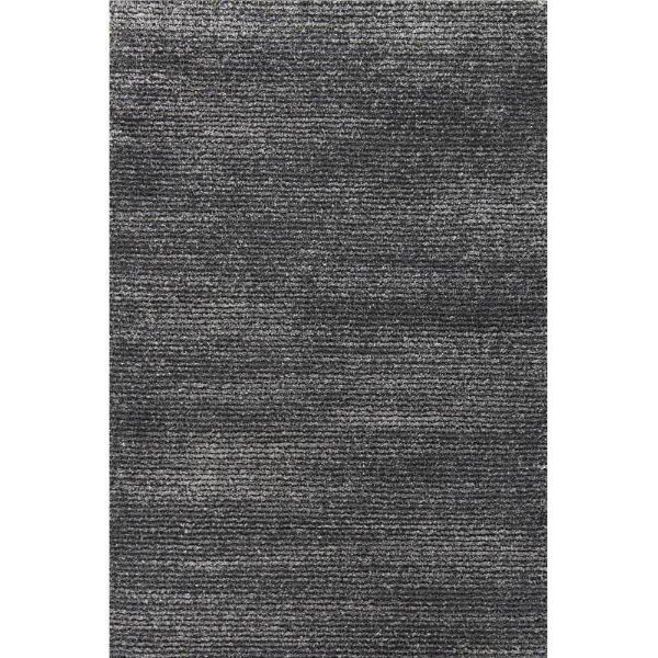 Subtle Striped Gray and Black Rug